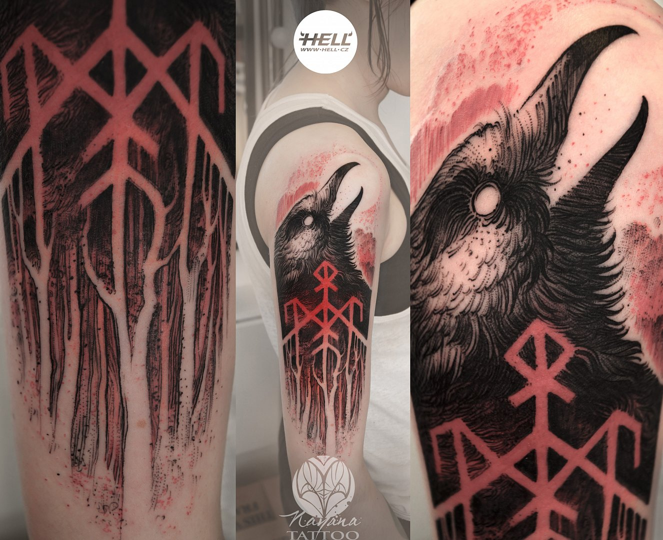 wardruna-raven-freehand-tattoo-nayana