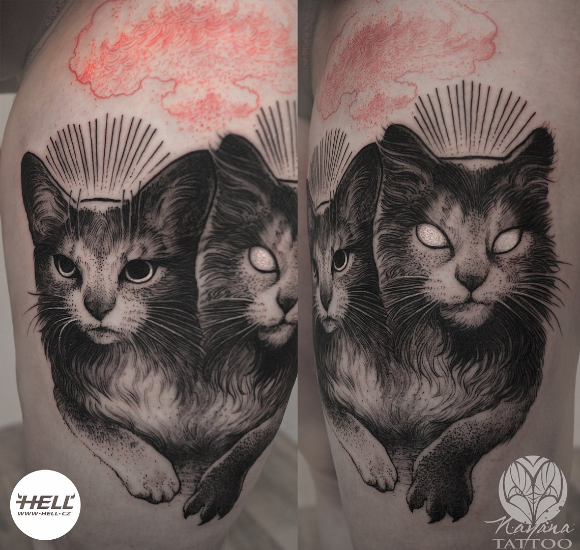dark-cat-twins-tattoo-nayana
