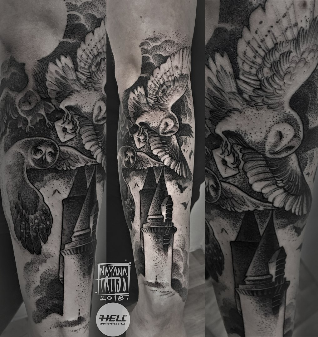 owls-hogwarts-nayana-tattoo